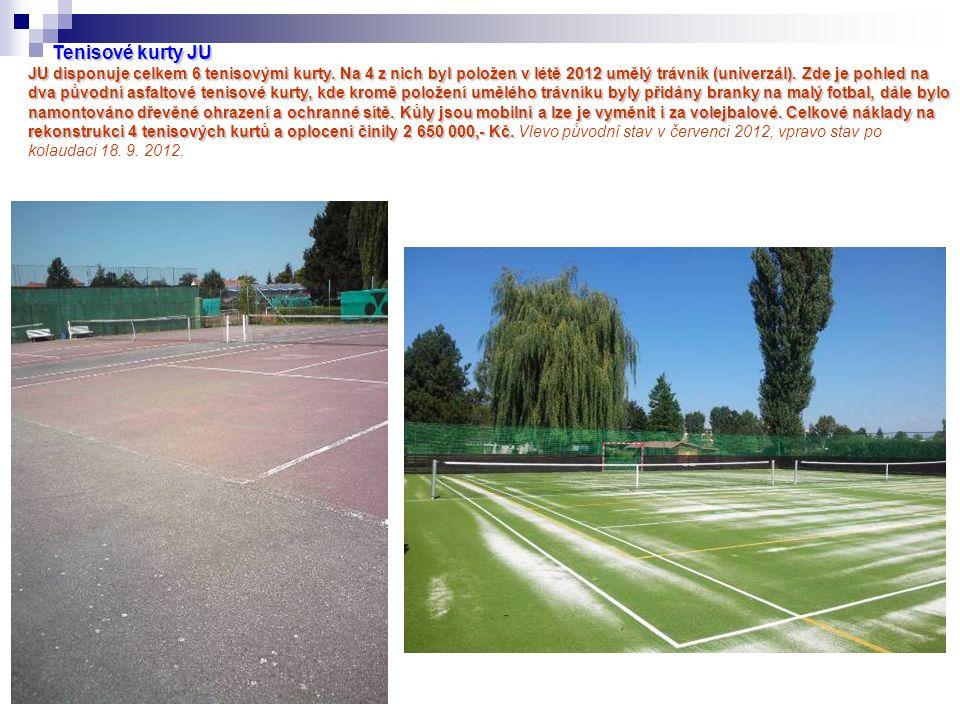 Tenisové kurty JU JU disponuje celkem 6 tenisovými kurty.