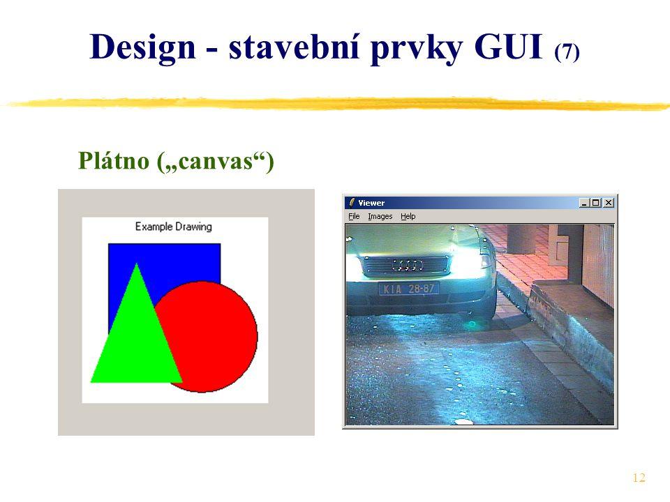 """12 Design - stavební prvky GUI (7) Plátno (""""canvas )"""