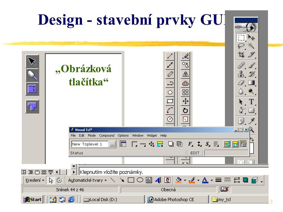 """13 Design - stavební prvky GUI (8) """"Obrázková tlačítka"""
