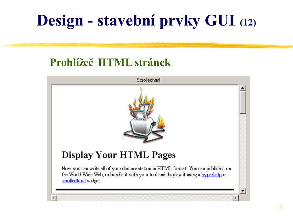 17 Design - stavební prvky GUI (12) Prohlížeč HTML stránek