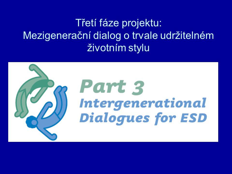 Třetí fáze projektu: Mezigenerační dialog o trvale udržitelném životním stylu