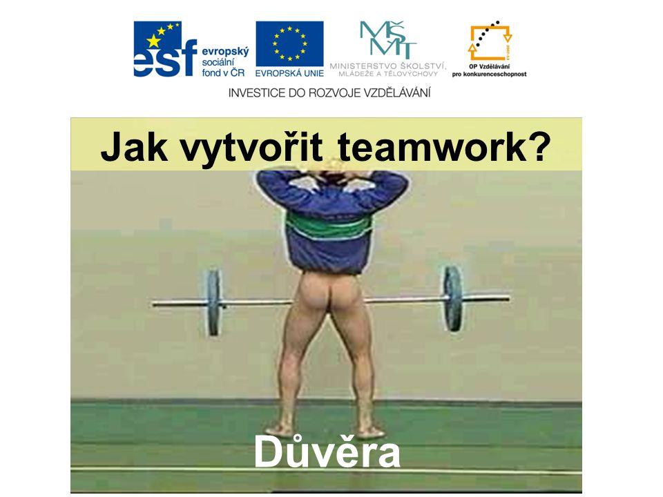 Důvěra Jak vytvořit teamwork?