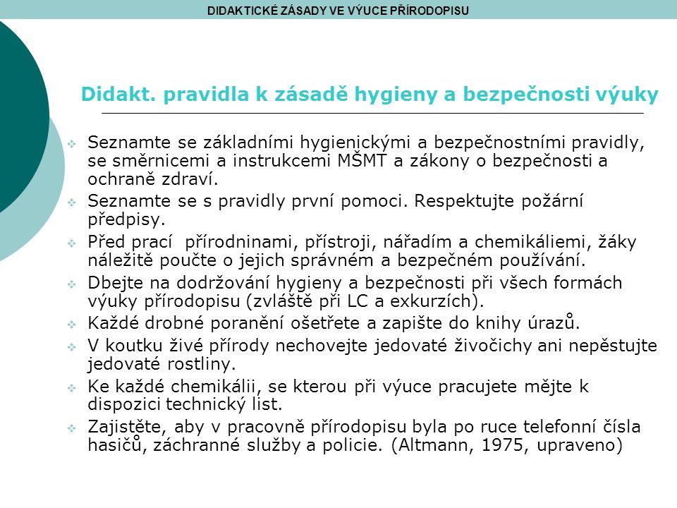  Seznamte se základními hygienickými a bezpečnostními pravidly, se směrnicemi a instrukcemi MŠMT a zákony o bezpečnosti a ochraně zdraví.