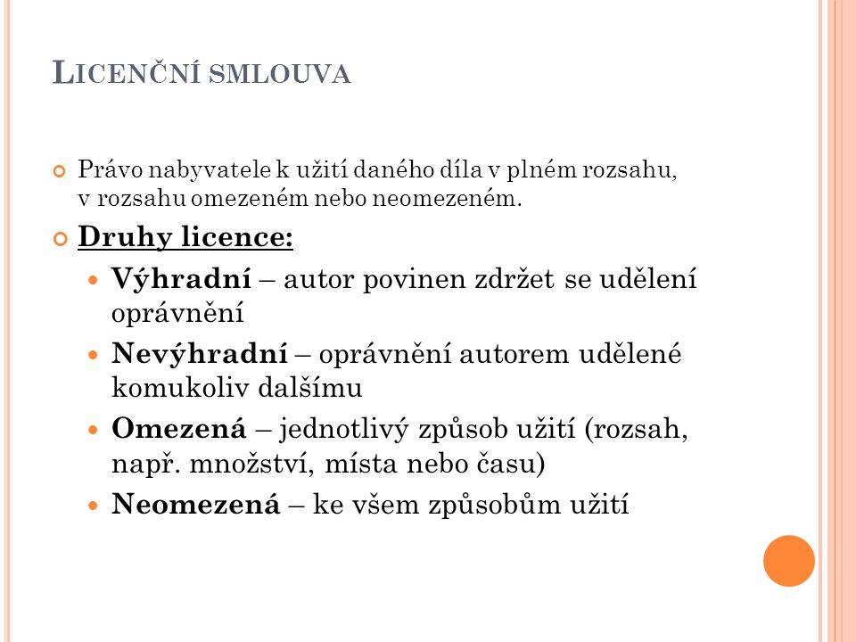 P OČÍTAČOVÉ PROGRAMY Zvláštní skupinou autorských děl Chráněny tzv.