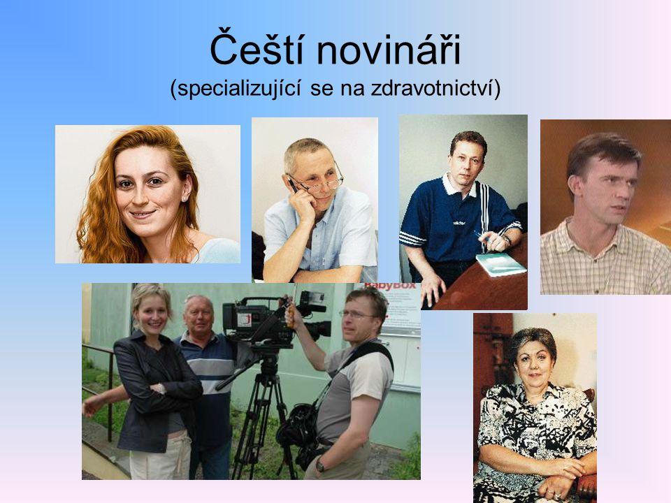 Čeští novináři (specializující se na zdravotnictví)
