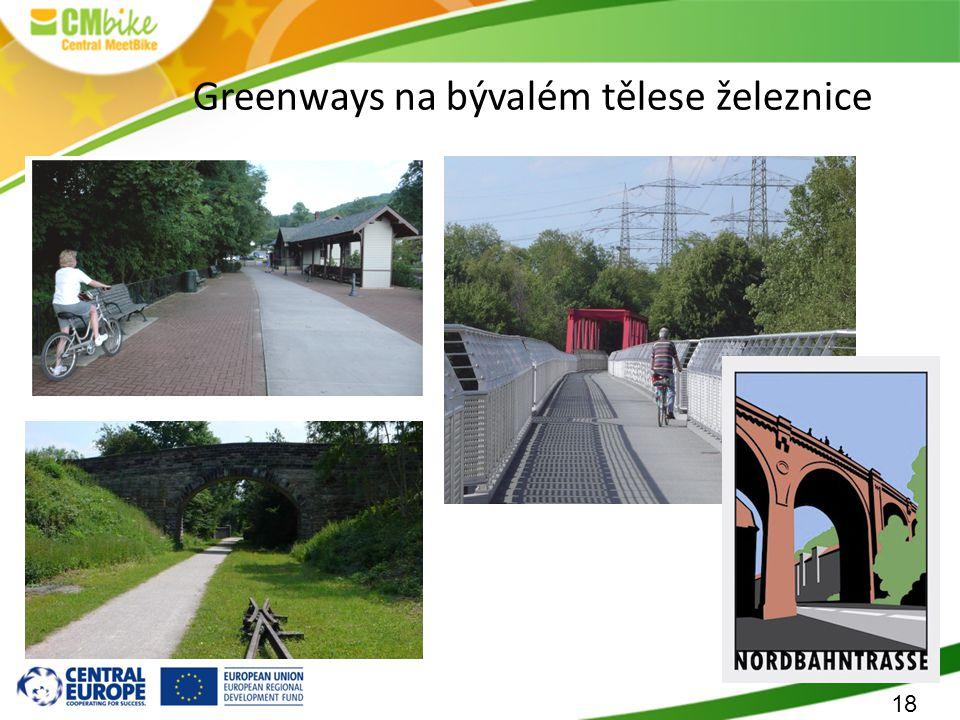 18 Greenways na bývalém tělese železnice