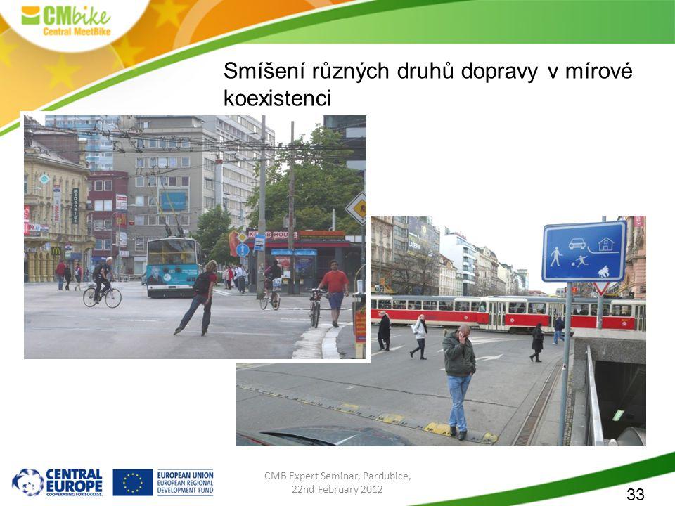 33 CMB Expert Seminar, Pardubice, 22nd February 2012 Smíšení různých druhů dopravy v mírové koexistenci