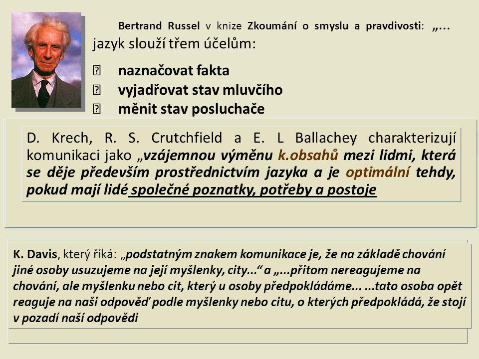 """Bertrand Russel v knize Zkoumání o smyslu a pravdivosti: """"..."""