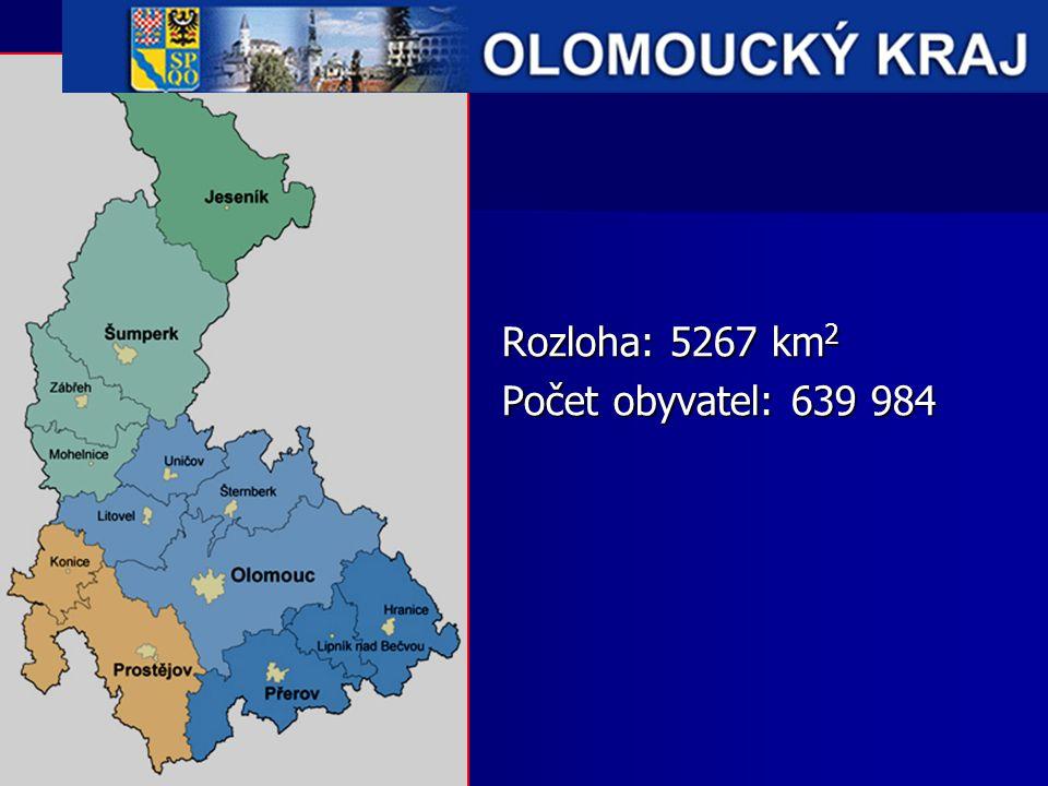 Rozloha: 5267 km 2 Počet obyvatel: 639 984