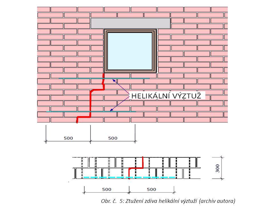 Obr. č. 5: Ztužení zdiva helikální výztuží (archiv autora)