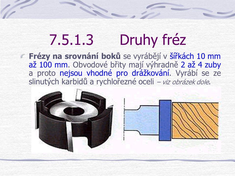 7.5.1.3Druhy fréz Fréza na drážky s plynule nastavitelnou šířkou drážky