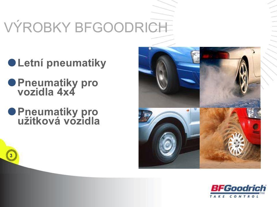 3 VÝROBKY BFGOODRICH  Letní pneumatiky  Pneumatiky pro vozidla 4x4  Pneumatiky pro užitková vozidla