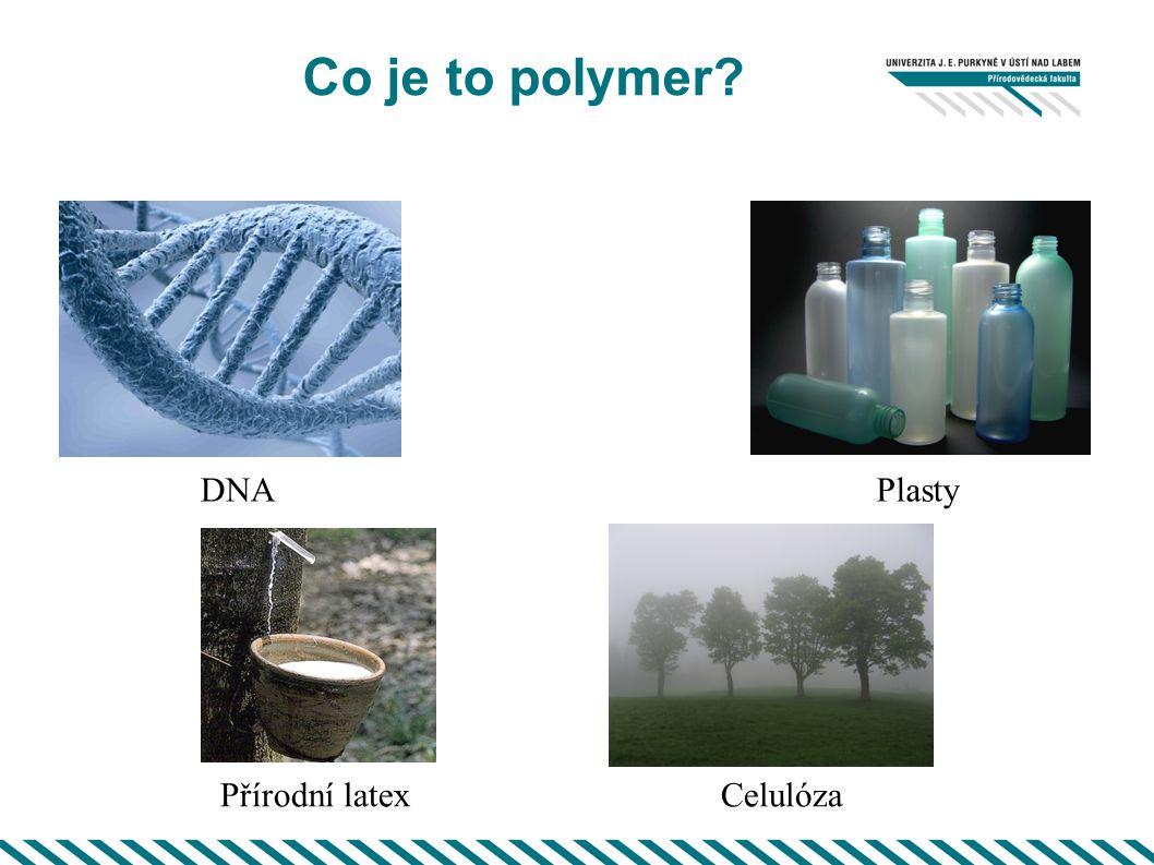 Co je to polymer? Plasty Celulóza DNA Přírodní latex