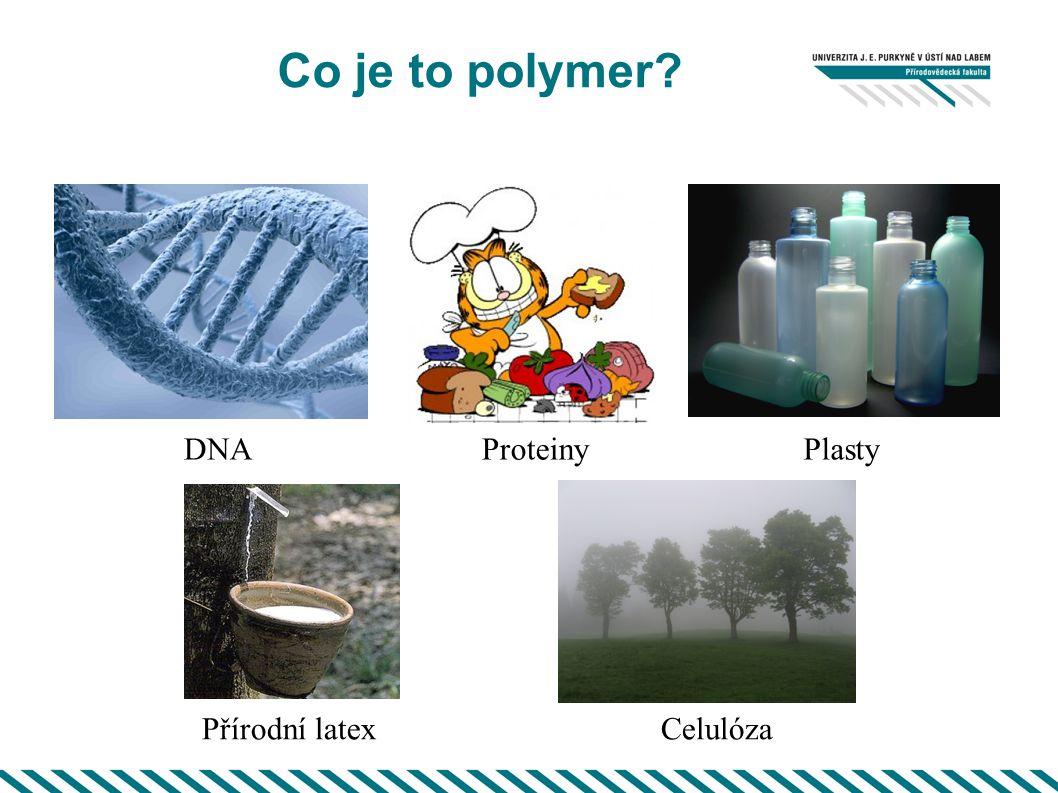 Co je to polymer? ProteinyPlasty Celulóza DNA Přírodní latex