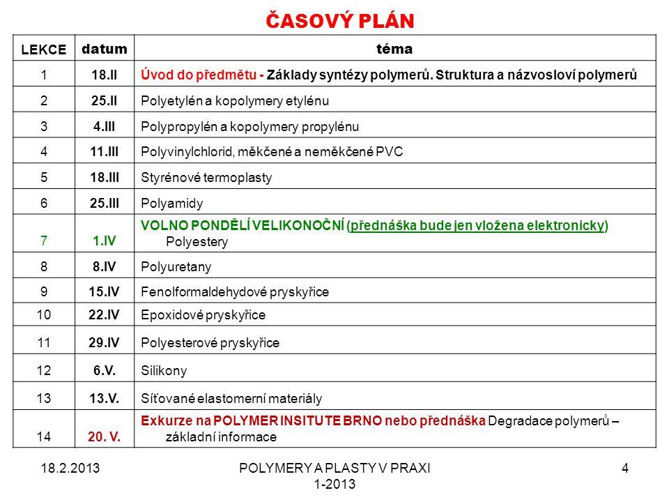 18.2.2013POLYMERY A PLASTY V PRAXI 1-2013 25
