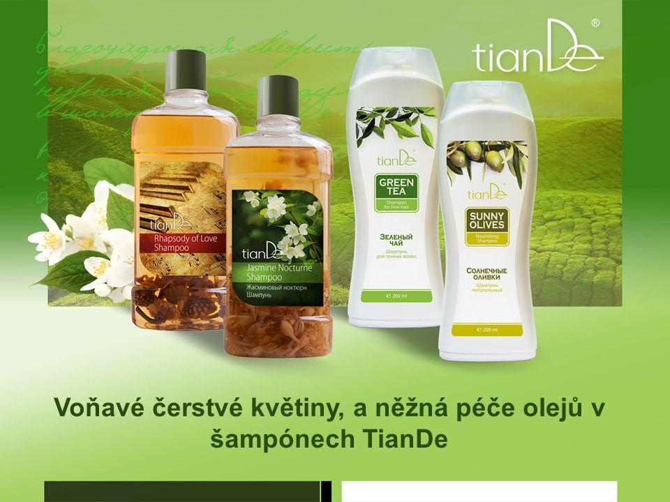 Voňavé čerstvé květiny, a něžná péče olejů v šampónech TianDe