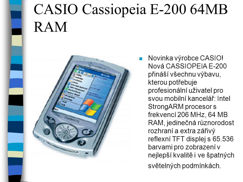CASIO Cassiopeia E-200 64MB RAM n Novinka výrobce CASIO.