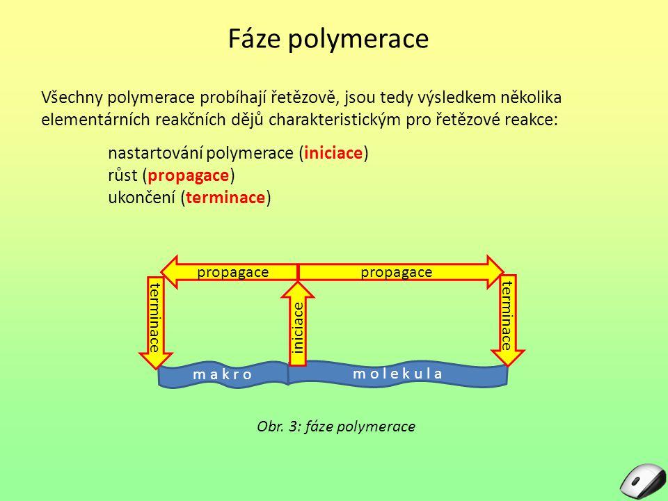 Kontrolní otázky: 1.Jaké jsou fáze polymerace.2.Co to je kopolymerace.