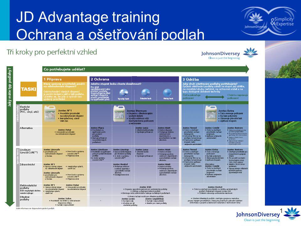 1 JD Advantage training Ochrana a ošetřování podlah