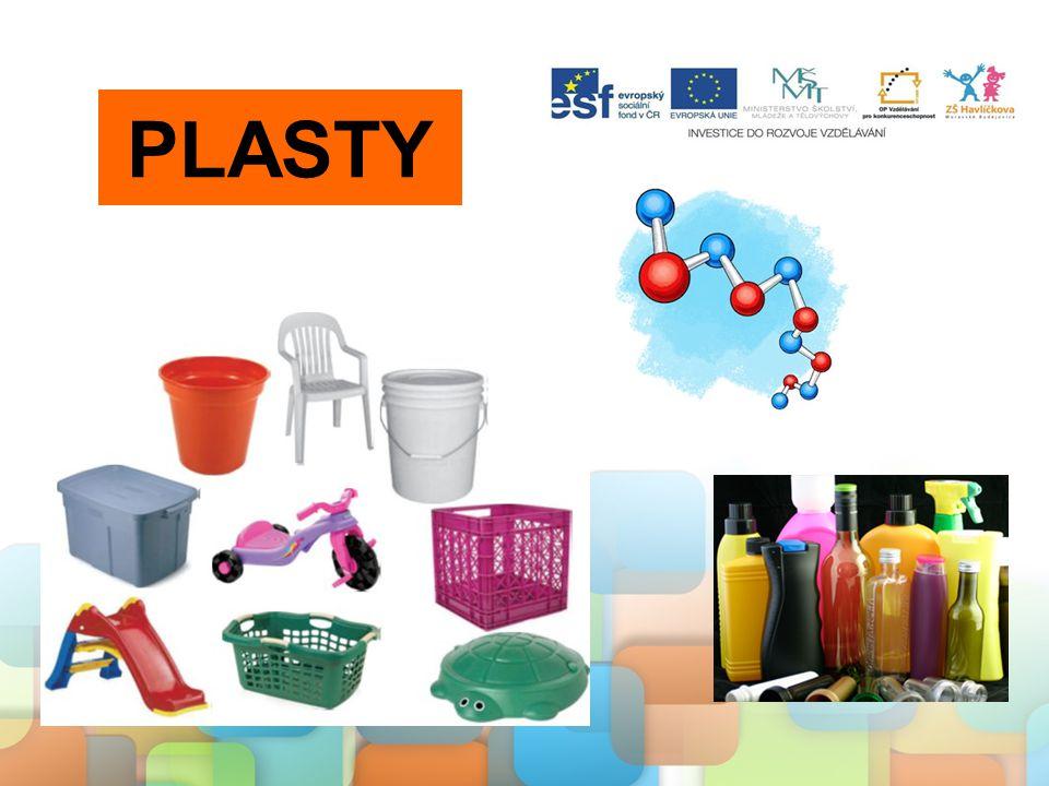 Plasty, syntetická vlákna a kaučuky mají široké využití v domácnosti i průmyslu díky svým vlastnostem, ale přináší to s sebou i problémy: - v přírodě jsou prakticky nerozložitelné - odpady z plastů znečišťují přírodu - hořením vznikají jedovaté látky Proto je důležité všechny odpady třídit a dále recyklovat.