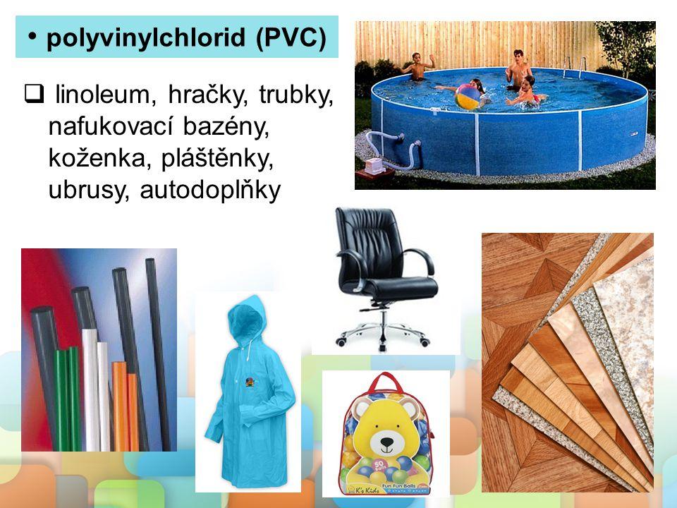 polystyren (PS)  nádobí a příbory na jedno použití, kelímky, krabičky  pěnový polystyren jako izolační materiál ve stavebnictví, zateplování budov, ochranné obaly