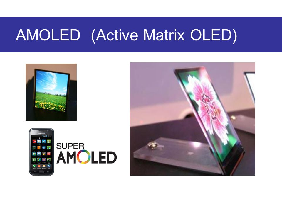 AMOLED (Active Matrix OLED)
