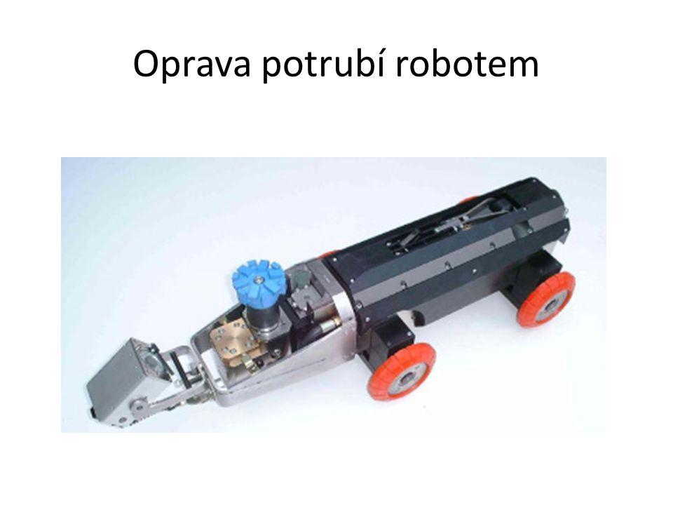 Oprava potrubí robotem