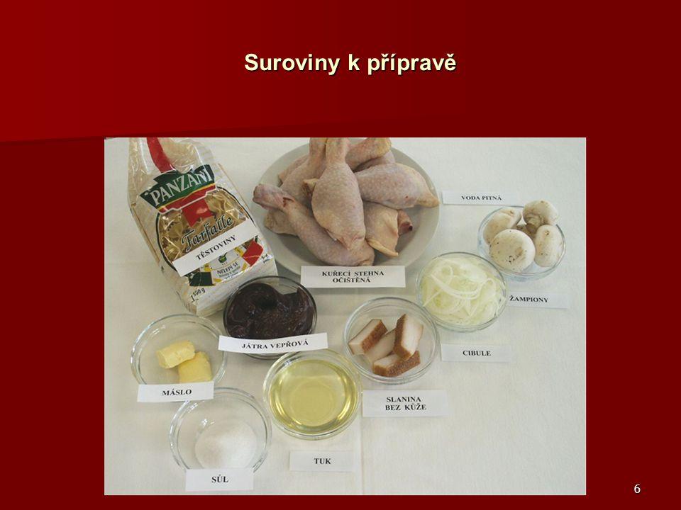 6 Suroviny k přípravě Suroviny k přípravě