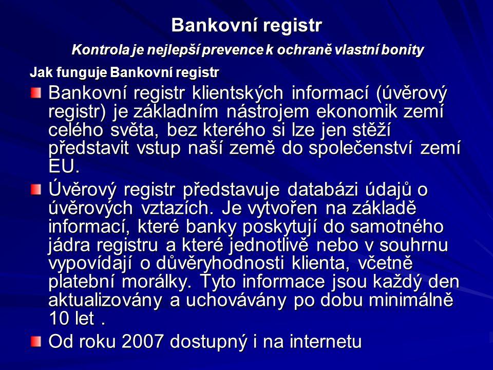 Bankovní registr Kontrola je nejlepší prevence k ochraně vlastní bonity Bankovní registr Kontrola je nejlepší prevence k ochraně vlastní bonity Jak fu