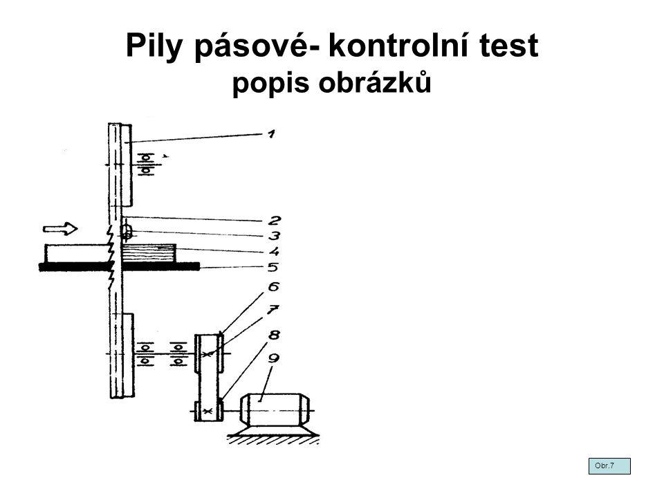 Pily pásové- kontrolní test popis obrázků Obr.7