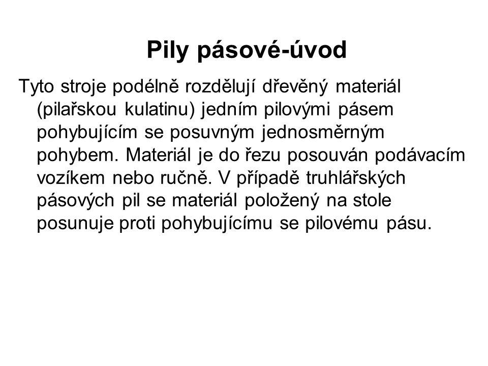 Pily pásové-konstrukce Obr.1