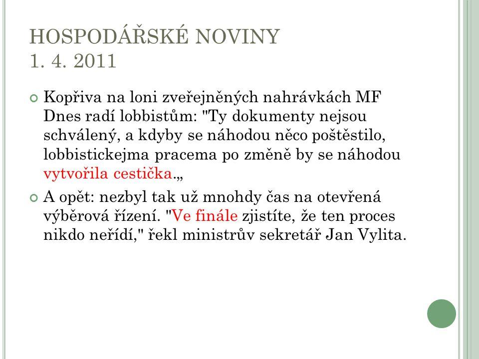 HOSPODÁŘSKÉ NOVINY 1. 4.