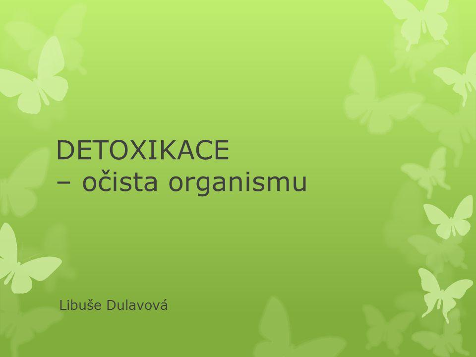DETOXIKACE – očista organismu Libuše Dulavová