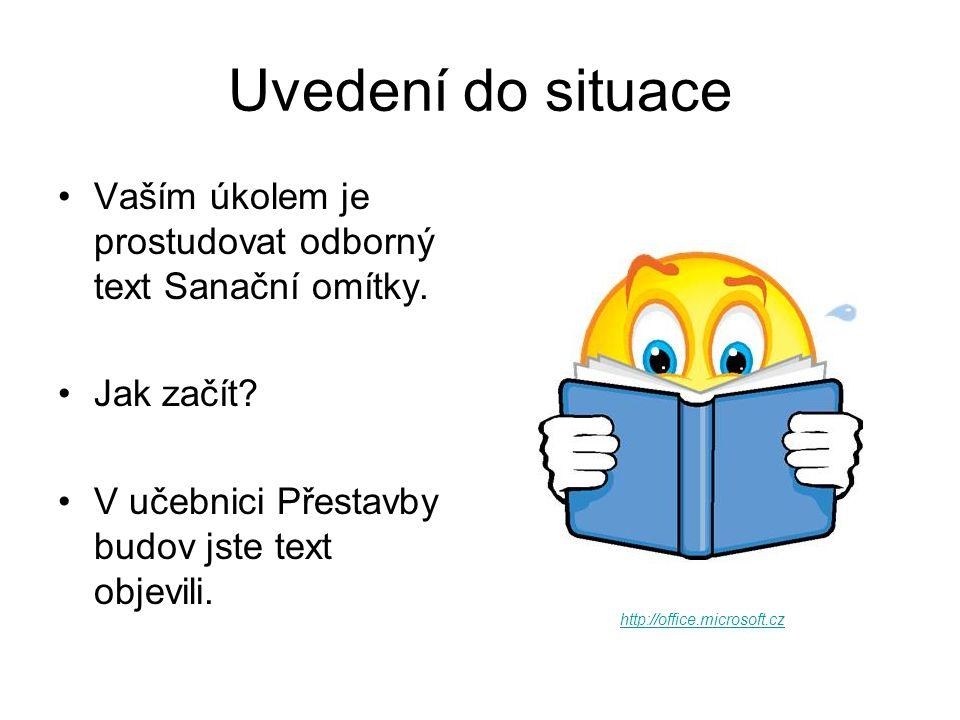Zdroj http://www.office.microsoft.com Podlena, V.Přestavby budov.
