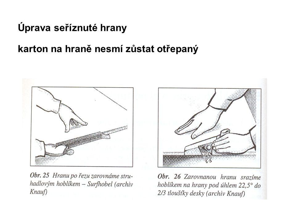 Způsoby napojení sádrokartonu na jiné konstrukce