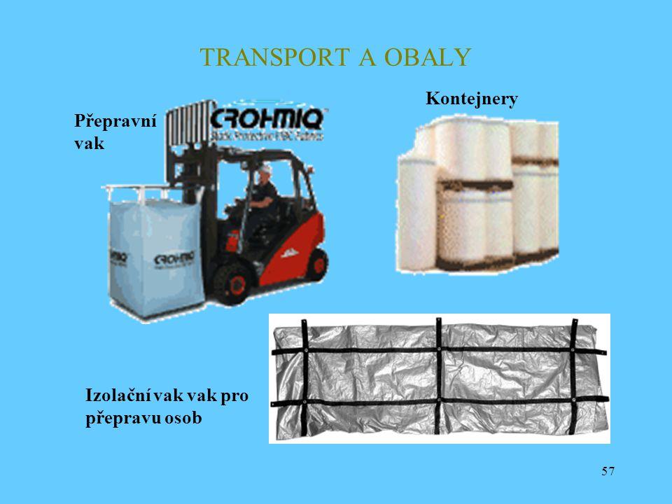 57 TRANSPORT A OBALY Izolační vak vak pro přepravu osob Přepravní vak Kontejnery
