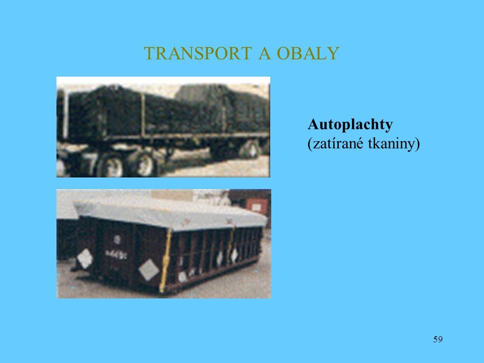 59 TRANSPORT A OBALY Autoplachty (zatírané tkaniny)