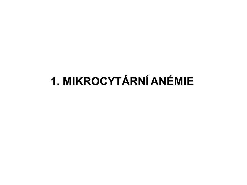 1. MIKROCYTÁRNÍ ANÉMIE