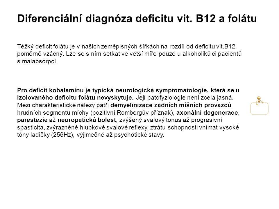 Diferenciální diagnóza deficitu vit.