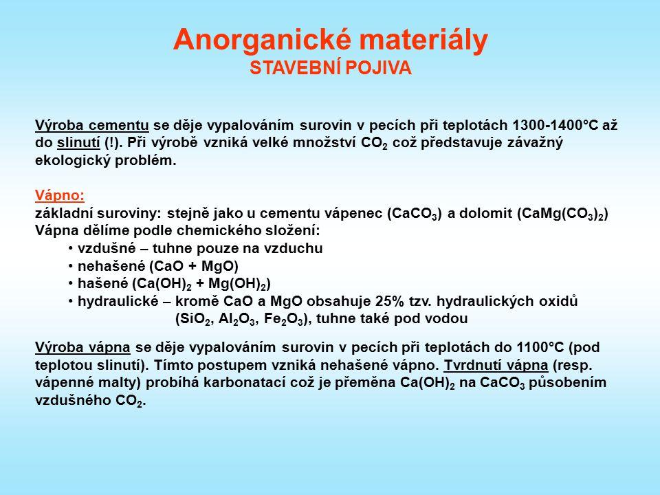 Sádra: Sádra je anorganické pojivo na bázi CaSO 4.