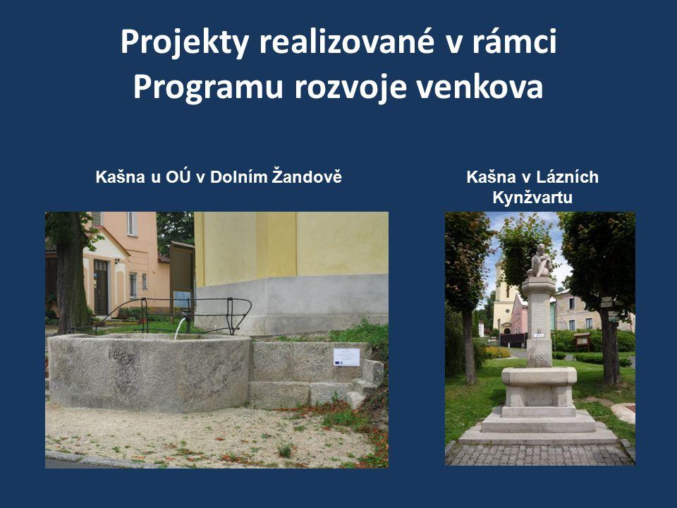 Projekty realizované v rámci Programu rozvoje venkova Kašna u OÚ v Dolním ŽandověKašna v Lázních Kynžvartu