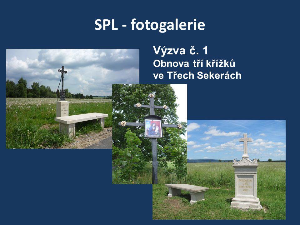 SPL - fotogalerie Výzva č. 1 Obnova tří křížků ve Třech Sekerách