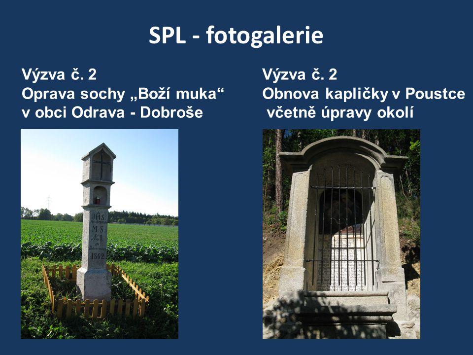 """SPL - fotogalerie Výzva č. 2 Oprava sochy """"Boží muka v obci Odrava - Dobroše Výzva č."""