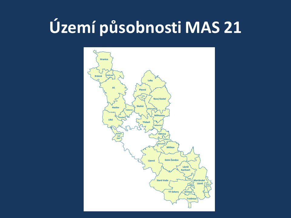Území působnosti MAS 21