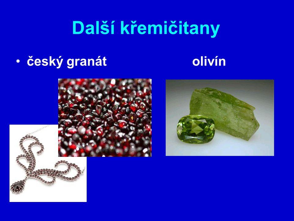 Další křemičitany český granátolivín