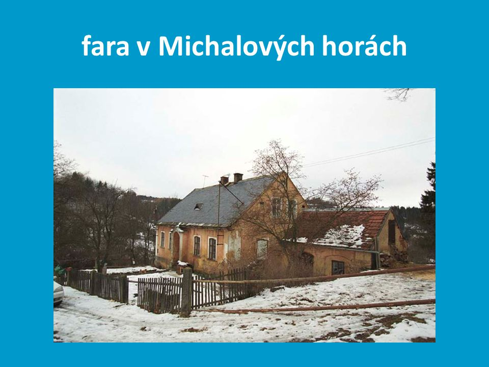 fara v Michalových horách