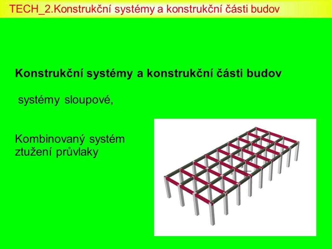 Konstrukční systémy a konstrukční části budov systémy sloupové, Kombinovaný systém ztužení průvlaky TECH_2.Konstrukční systémy a konstrukční části bud