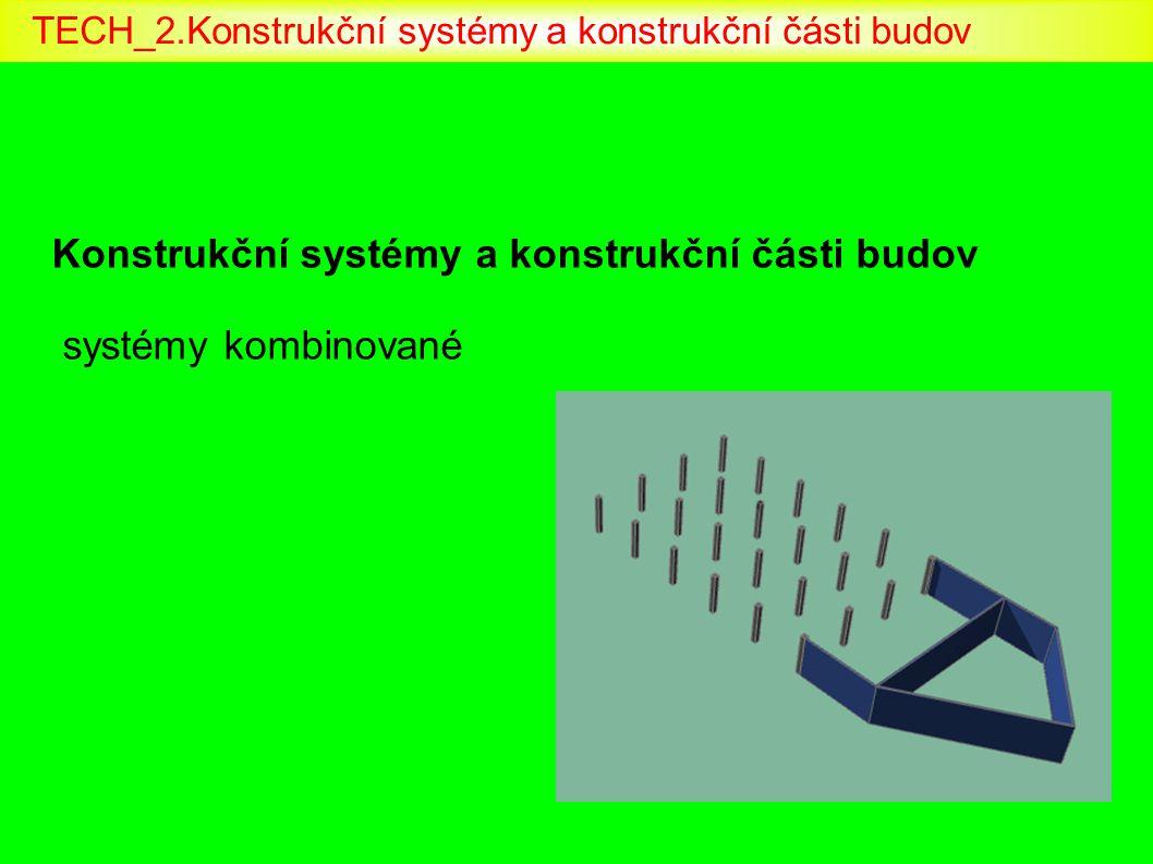 Konstrukční systémy a konstrukční části budov systémy kombinované TECH_2.Konstrukční systémy a konstrukční části budov