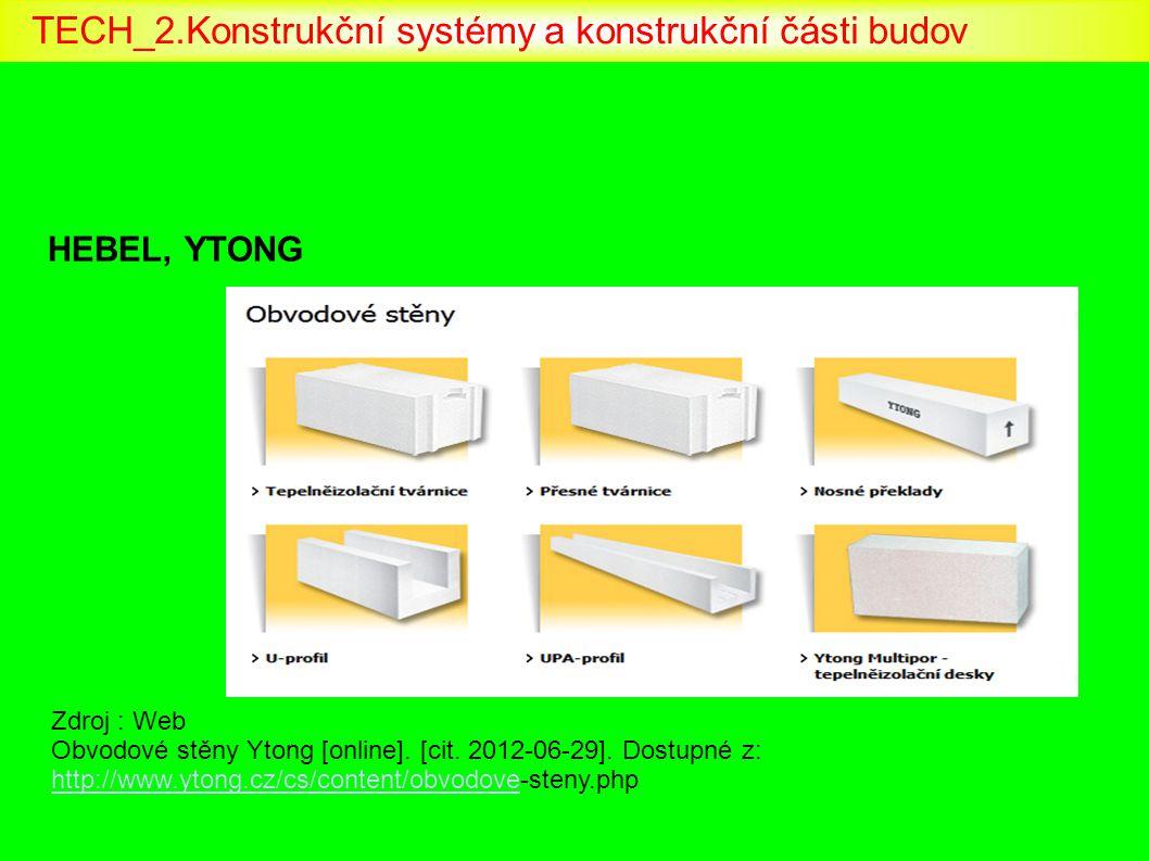 HEBEL, YTONG Zdroj : Web Obvodové stěny Ytong [online]. [cit. 2012-06-29]. Dostupné z: http://www.ytong.cz/cs/content/obvodove-steny.php http://www.yt