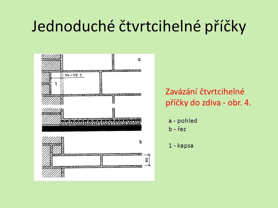 Půlcihelné příčky Technické parametry a vlastnosti cihly se kladou naplocho převazují se o čtvrt nebo o půl cihly zavazuje se do nosných zdí buď do kapes nebo ozubů vyložených ze zdí tloušťka příčky včetně oboustranné omítky je 170 mm ( ve stavebních výkresech se kótuje 150 mm)